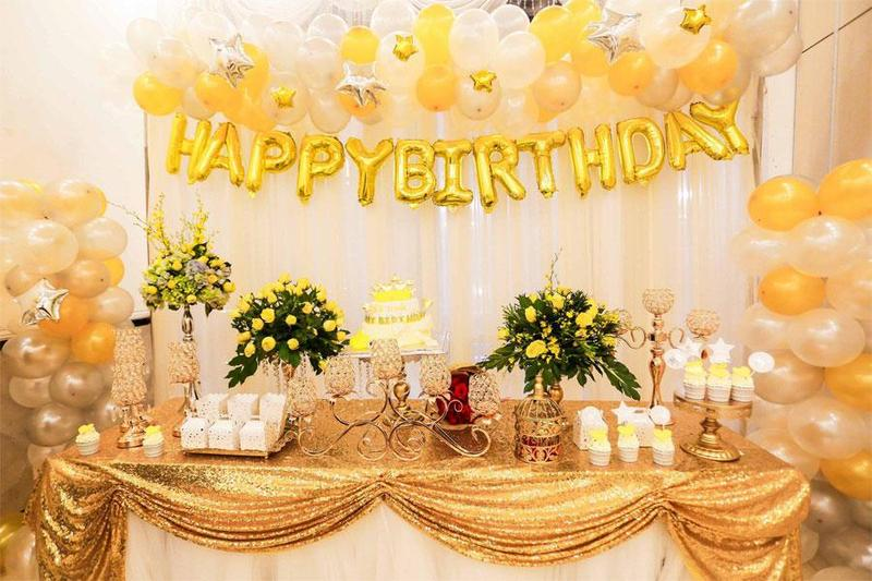 Tổ chức tiệc sinh nhật tại nhà ấn tượng với các đồ vật trang trí sinh động